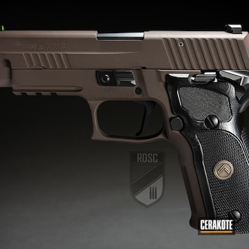 Cerakoted Two Toned Sig P226 Handgun In E-100 And H-293