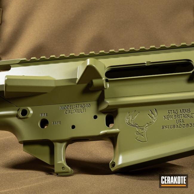Cerakoted: S.H.O.T,Stag Arms,Tactical Rifle,Noveske Bazooka Green H-189,.308,Stag 10