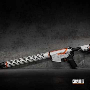 Cerakoted Cs:go Themed Rifle In H-136, H-190 And H-128