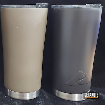 Cerakoted Refinished Ozark Trail Tumblers In H-146 And H-226