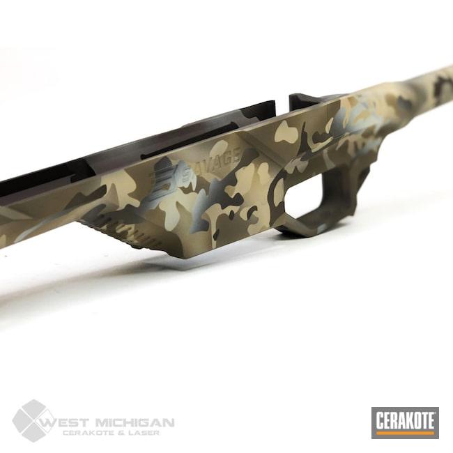 Cerakoted: S.H.O.T,Stone Grey H-262,Savage Arms,MultiCam,Desert Sand H-199,Firearm,Camo,Savage,Firearms,Flat Dark Earth H-265,Custom Camo