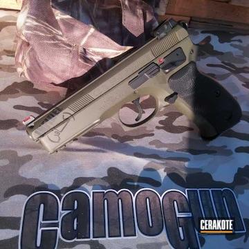 Cerakoted Cz 75 Sp-01 Handgun In H-146 And H-236