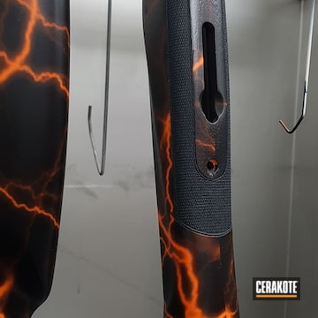 Cerakoted Custom Browning Shotgun In E-110 And C-192