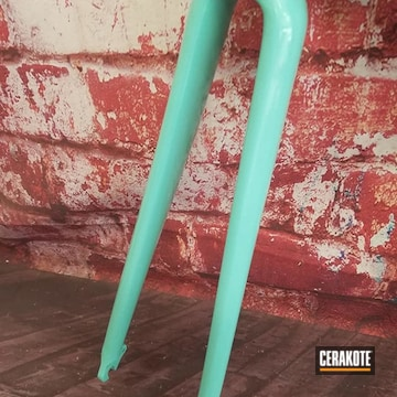 Cerakoted Color Matched Bicycle Fork In H-175 And Mc-160