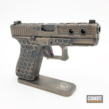 Cerakoted Custom Glock 19 9mm In H-146 And H-148