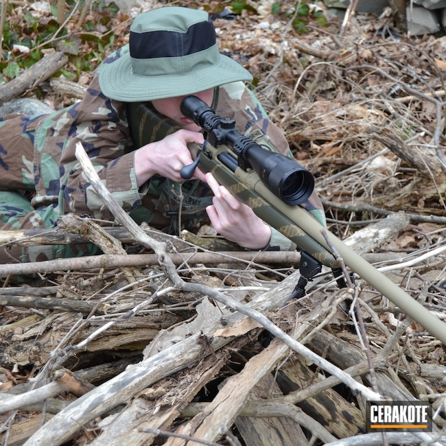Cerakoted: S.H.O.T,Bolt Action Rifle,Savage Arms,Coyote Tan H-235,Tactical,Tan,Claw,Camo,Sniper,O.D. Green H-236,.308,GLOCK® FDE H-261