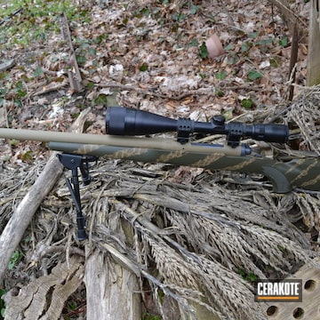 Cerakoted .308 Bolt Action Rifle In H-235, H-236 And H-261