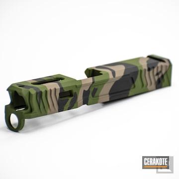 Cerakoted Custom Multicam Glock Slide In H-343, H-267 And H-146
