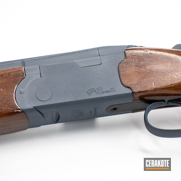 Cerakoted Beretta Shotgun In H-295