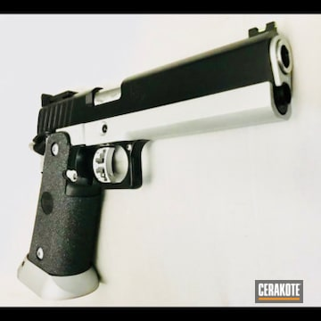 Cerakoted .45 Sti 1911 Handgun In H-146 And H-152