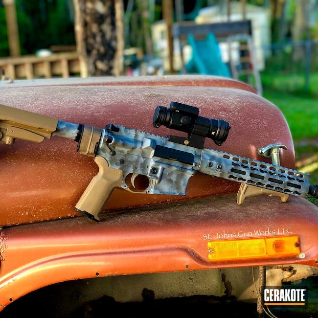 Cerakoted: S.H.O.T,Palmetto State Armory,Sniper Grey H-234,Tungsten H-237,Tactical Rifle,7.62x39,AR-15,MULTICAM® DARK GREY H-345