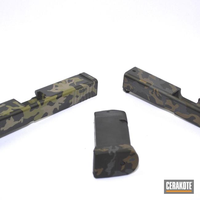 Cerakoted: Noveske Tiger Eye Brown H-187,S.H.O.T,Graphite Black H-146,Armor Black C-192,MAGPUL® FDE C-267,Glock,Pistol Slide,Sniper Grey C-239,Noveske Bazooka Green H-189