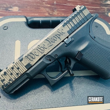 Cerakoted We The People Themed Glock 19 Handgun In H-146 And H-265