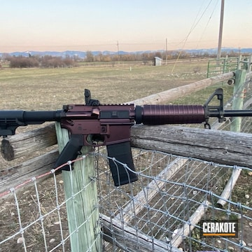 Cerakoted S&w Ar-15 Rifle With Guncandy Black Cherry In H-146