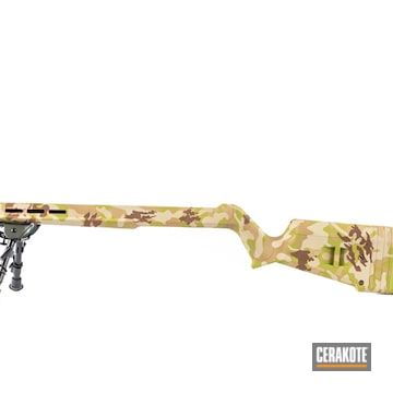 Cerakoted Arid Multicam Rifle In H-340, H-203, H-269 And H-342