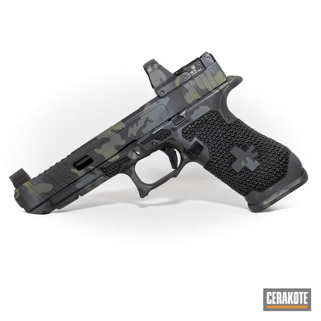 Cerakoted: S.H.O.T,Sniper Grey H-234,MultiCam,Graphite Black H-146,Camo,Pistol,Noveske Bazooka Green H-189,MultiCam Black