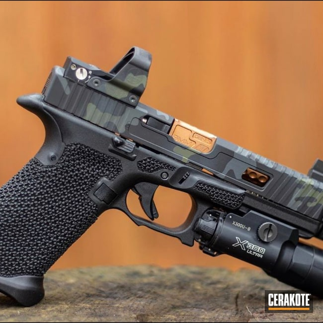 Cerakoted: S.H.O.T,Sniper Grey H-234,MultiCam,Graphite Black H-146,Pistol,Noveske Bazooka Green H-189,MultiCam Black