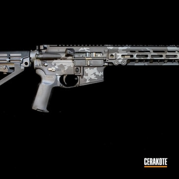 Cerakoted Urban Multicam Rifle In H-234 And H-146