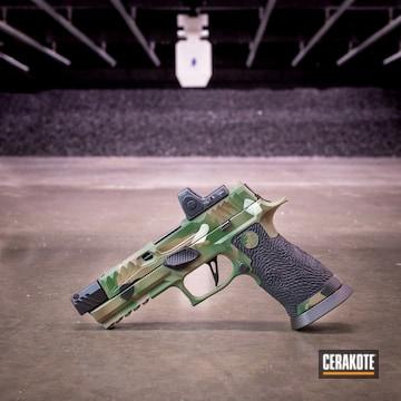 Cerakoted Sig Sauer Multicam Handgun In H-146