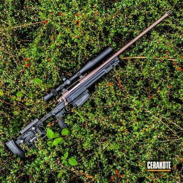 Cerakoted Custom Rifle In H-293