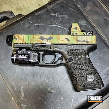 Cerakoted Custom Glock 45 Multicam In H-200, H-267, H-146 And H-258