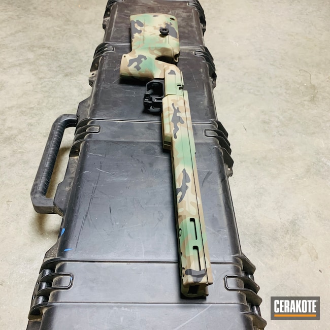Cerakoted: S.H.O.T,Highland Green H-200,Rifle Stock,MAGPUL® FLAT DARK EARTH H-267,MultiCam,Chassis,Graphite Black H-146,KRG,MultiCam Stock,Chocolate Brown H-258
