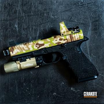 Cerakoted Arid Multicam Pistol Slide