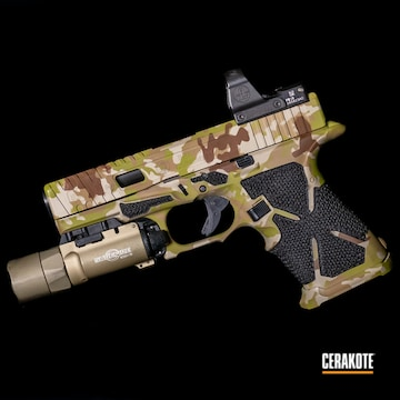 Cerakoted Multicam Arid Glock 17 In H-340