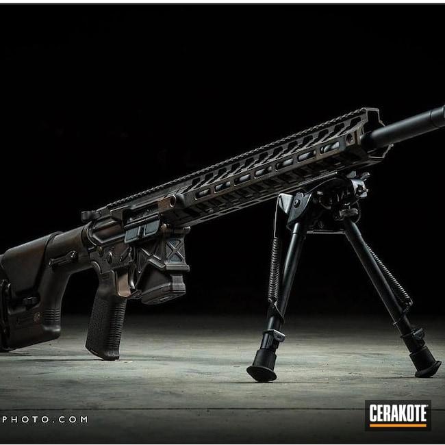 Cerakoted: S.H.O.T,Custom Mix,AR,Distressed,Tactical Rifle,Midnight Bronze H-294,Distressed Midnight Bronze,AR Build,AR-15