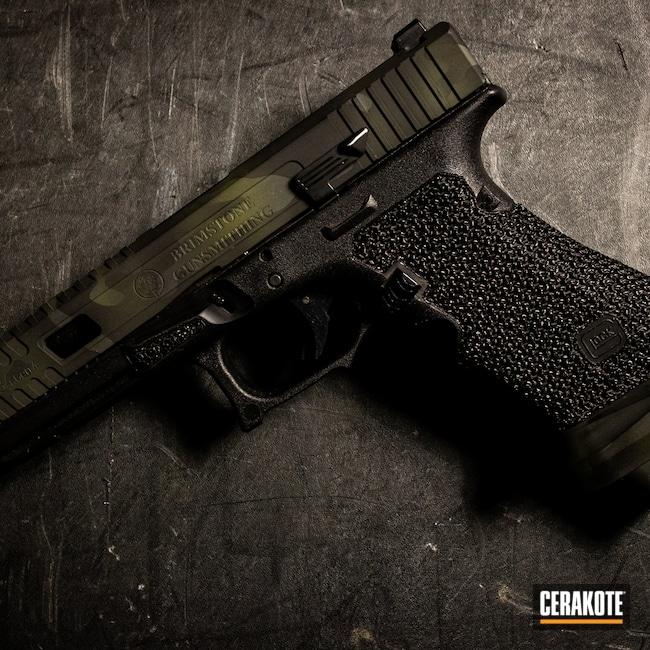Cerakoted: S.H.O.T,M81,MultiCam,Graphite Black H-146,Pistol,MultiCam Black,Black Multi Cam