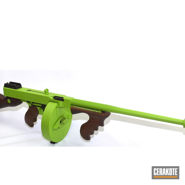 Cerakoted: S.H.O.T,Zombie Green H-168,Tommy Gun