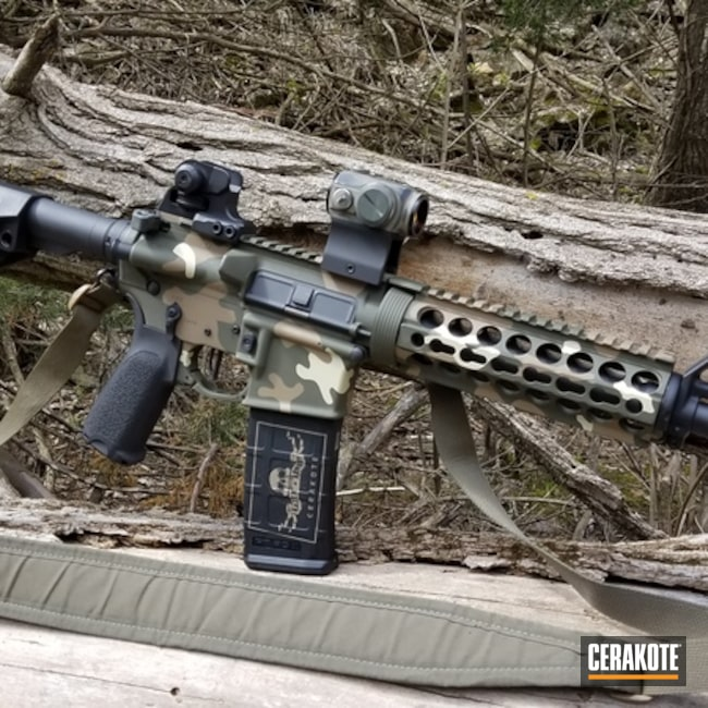 Cerakoted Mk18 Ar Pistol In H-267, H-236 And C-211