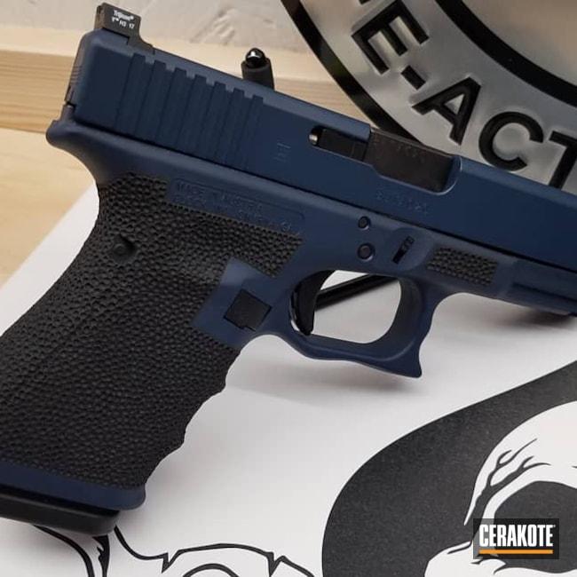 Cerakoted: S.H.O.T,Glock 19,www.hazenarmorycerakote.com,Graphite Black H-146,Two Tone,KEL-TEC® NAVY BLUE H-127,Pistol,Glock,Hazen Armory Cerakote