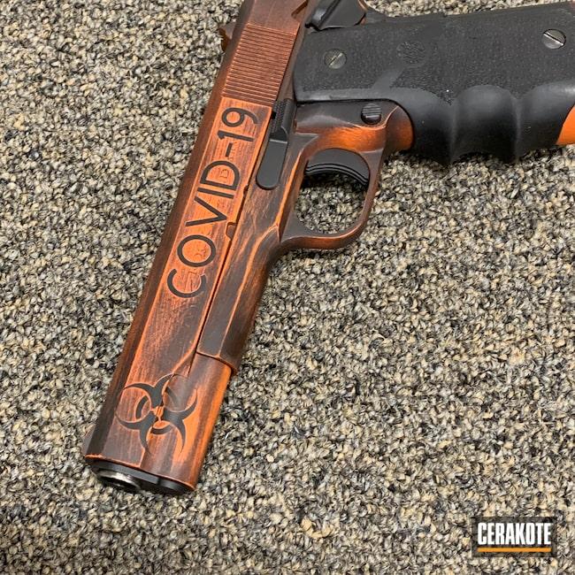 Cerakoted: S.H.O.T,.45,Battleworn,Gen II Graphite Black HIR-146,Pistol,1911,Rock Island,Hunter Orange H-128,COVID-19