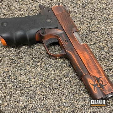 Cerakoted Covid19 Themed Rock Island 1911 Handgun