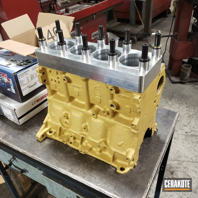 Cerakoted: CERAKOTE GLACIER GOLD C-7800,KingsofMayhePowderandFab,Valve Cover,Intake Manifold,More Than Guns,Volkswagen,Automotive,Engine Block,TT,1.8T,Audi