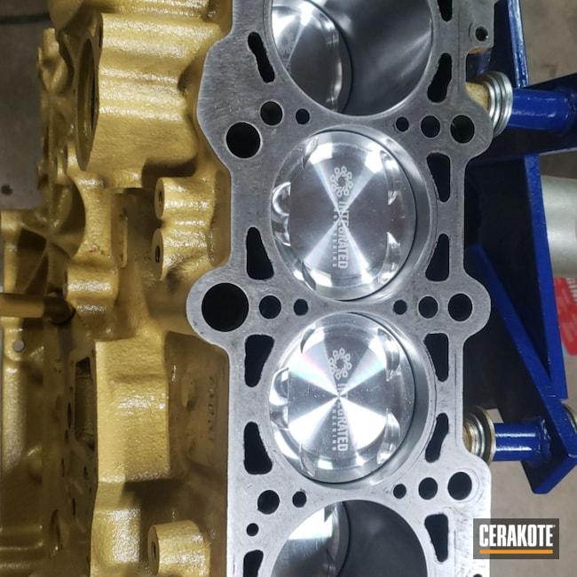 Cerakoted: CERAKOTE GLACIER GOLD C-7800,KingsofMayhePowderandFab,Valve Cover,Intake Manifold,More Than Guns,Volkswagen,Automotive,Engine Block,TT,1.8T,Audi