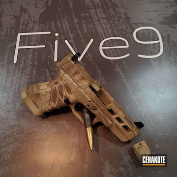 Cerakoted Arid Kryptek Glock Camo In H-235, H-199 And H-261