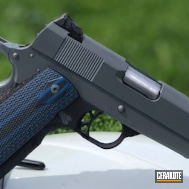Cerakoted: S.H.O.T,Conceal Carry,BLACKOUT E-100,Cosaint Arms,Pistol,1911,Production Custom