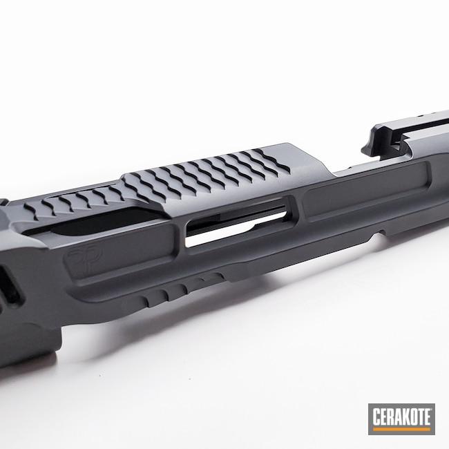 Cerakoted: S.H.O.T,9mm,M&P,Graphite Black H-146,Smith & Wesson,Firearm,Slide