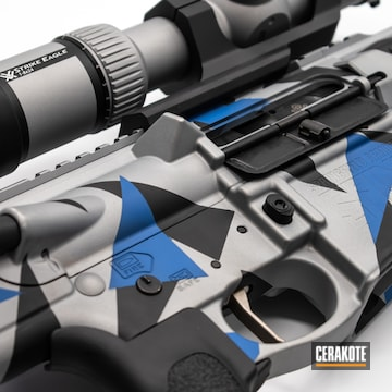 Cerakoted Ruger Saint Ar-10 Splinter Camo Rifle