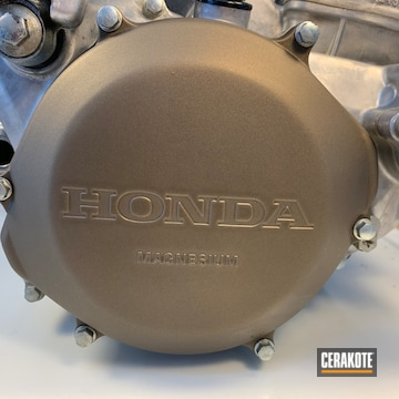 Cerakoted Bronze Honda Cr Motorcycle Engine Cover