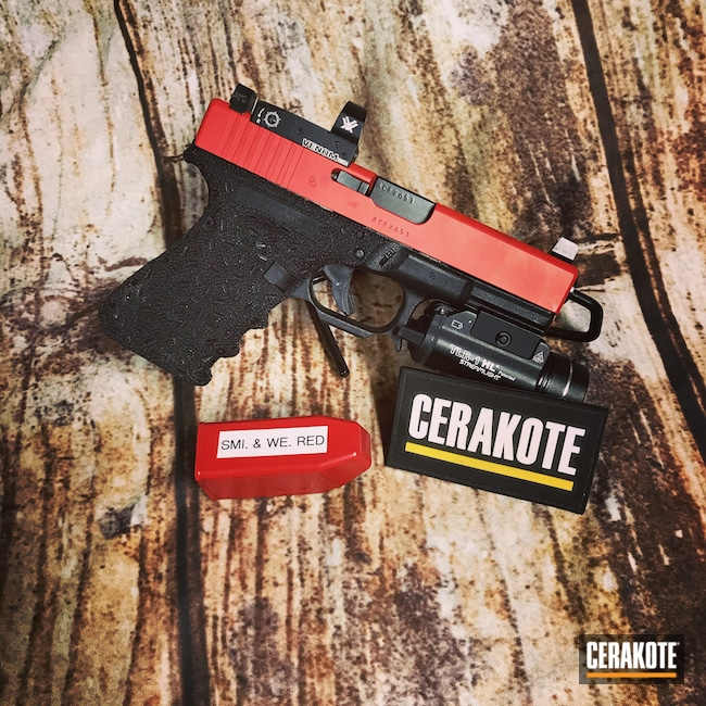 Cerakoted: S.H.O.T,Glock 19,Pistol,Glock,SMITH & WESSON® RED H-216