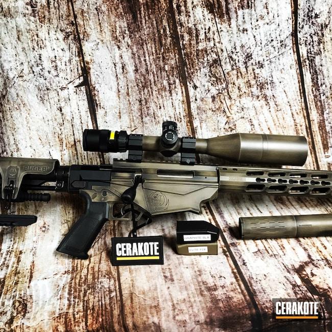 Cerakoted: S.H.O.T,Bolt Action Rifle,Ruger,Ruger Precision Rifle,Graphite Black H-146,FDE E-200