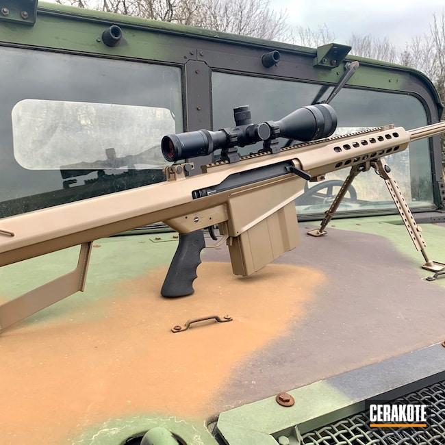 Cerakoted: S.H.O.T,Rifle,Barrett,50 BMG,M17 COYOTE TAN E-170,Elite