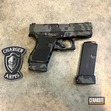 Cerakoted Multicam Black Glock 43 In H-229, H-146 And H-210