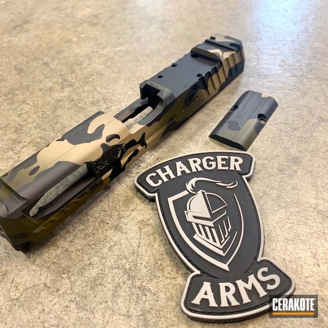 Cerakoted: S.H.O.T,9mm,Sniper Grey H-234,VP9,MultiCam,Sniper Green H-229,Graphite Black H-146,Desert Sand H-199,Slide
