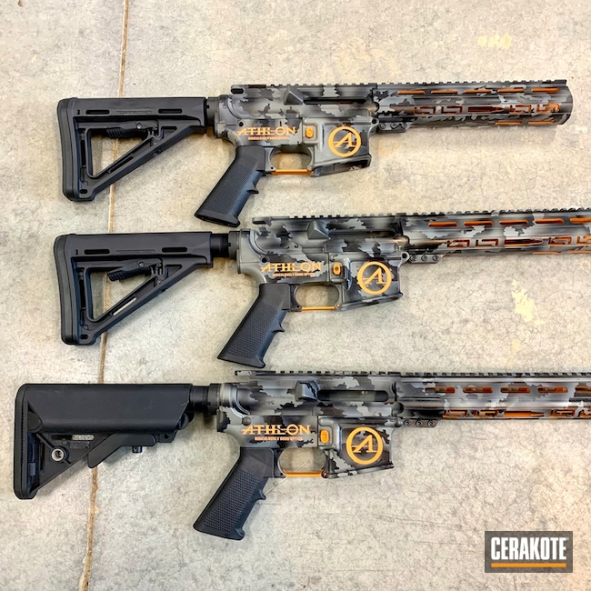Cerakoted: TEQUILA SUNRISE H-309,S.H.O.T,Color Fill,MultiCam,Athlon,Graphite Black H-146,SMITH & WESSON® GREY H-214,Tactical Rifle,AR-15