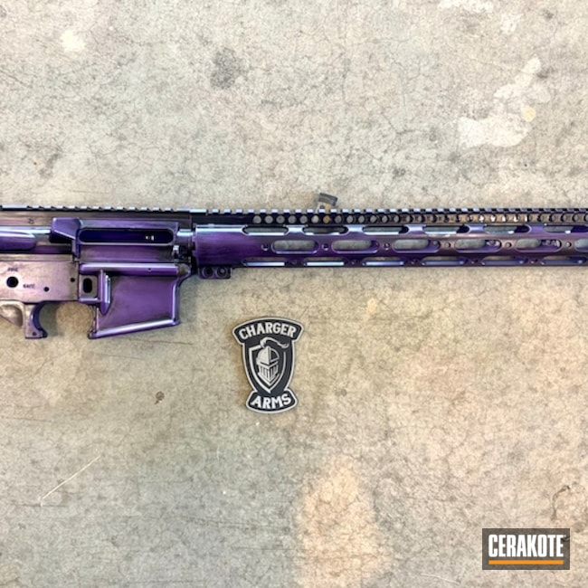 Cerakoted: S.H.O.T,Battleworn,Graphite Black H-146,SIG™ PINK H-224,Tactical Rifle,Custom Purple Blend,Sky Blue H-169,AR-15