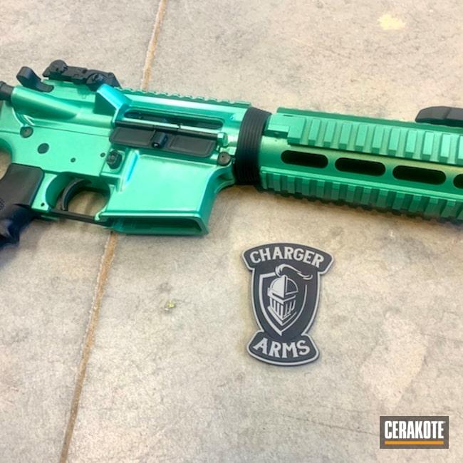 Cerakoted: S.H.O.T,HIGH GLOSS CERAMIC CLEAR MC-160,GunCandy Envy,Tactical Rifle,.223,SQUATCH GREEN H-316,AR-15